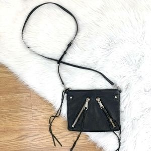 Rebecca Minkoff Small Black Leather Crossbody Bag